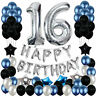 40 inch 16/18/21/30/50/60/70/90th Happy Birthday Ballon Decor Number Balloons UK