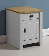 LUDLOW GREY & OAK EFFECT 1 DOOR 1 DRAWER BEDSIDE CABINET *NEXT DAY DELIVERY