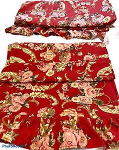 Ralph Lauren Danielle Marseilles Floral Bedding Set Pillowcases & Sheet Ruffled