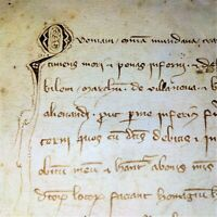 TESTAMENT OF BERNAT DE SANTA COLOMA. MANUSCRIPT PARCHMENT. CATALUNYA. SPAIN.1334