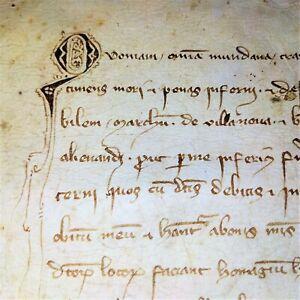 TESTAMENT OF BERNAT DE SANTA COLOMA. MANUSCRIPT PARCHMENT. CATALUNYA. SPAIN.1334