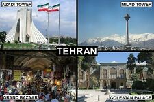 SOUVENIR FRIDGE MAGNET of TEHRAN IRAN