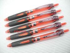 5 Pens x Uni-Ball SN-200PT Power Tank 0.5mm Extra Fine Ballpoint Ball Pen, Red
