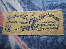 Vintage 50s Style Japan Wind And Sea Sportwear Sun Surf Aloha Hawaiian Shirt