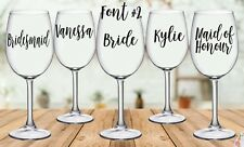 DIY Personalised Wedding Wine/Champagne Glass Decal Sticker (each)