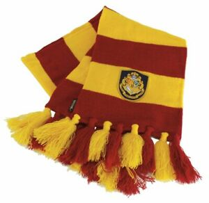 Harry Potter HOGWARTS KNIT SCARF Red Yellow Gryffindor Hermione Ron LICENSED USA