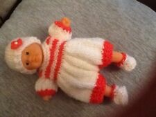Baby Doll Outfit To Fit 7 Inch Doll Reborn Oakley (no Doll) Romper Orange
