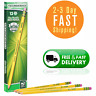 Pencils Wood-Cased #2 HB Soft Pre-Sharpened With Eraser Yellow 12-Pack