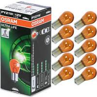 10X Py21w Bau15s Blinker 12V 21W Birne Lampe Gelb Osram Ultra Life Blinkerlampe