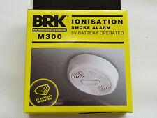 ionisation smoke alarm brk m300 9v battery operated. x2.