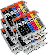30x PGI-270/CLI-271XL compatible inks para USA Canon Pixma TS9020