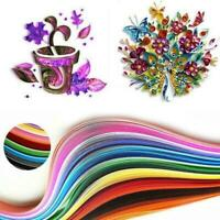 240 Stripes Quilling Paper 5mm Width Mixed Color For DIY Craft 24 Colors V4S6