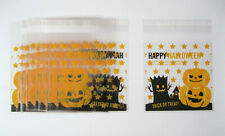 20 x Pumpkin Halloween Cellophane Sweet Bags - Trick or Treat Party Favour - NEW