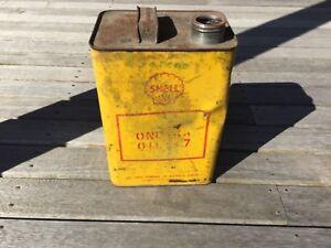 Shell One Gallon Motor Oil Tin