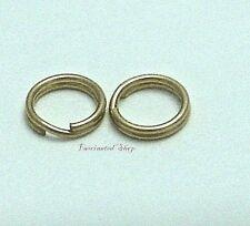 14K Gold Filled 5MM Split Jump Ring 21ga Findings New USA 10pcs