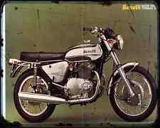 Benelli 650 Tornado 73 A4 Metal Sign Motorbike Vintage Aged