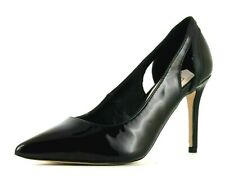 Faith Womens UK 5 EU 38 Black Patent High Heel Stiletto Pointed Toe Court Shoes