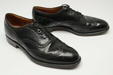 VTG Alan Mcafee English Wingtip Shoes 9.5 10 D Black Leather Half Brogue Churchs