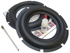 "2 Heavy Duty 10"" Rubber Subwoofer Surround Kit - HiFonics Memphis Rhino - 2HDR10"