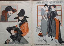 """CATALOGUE MODE """"AUX TROIS QUARTIERS"""" NOUVEAUTES D'HIVER 1921"""