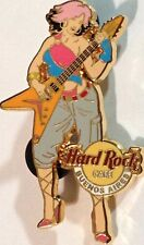 Hard Rock Cafe BUENOS AIRES 2005 Pink Haired GIRL Playing GUITAR PIN HRC #28002