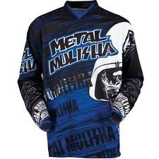 Metal Mulisha MAIMED BLUE motocross offroad riding Jersey adult size Small S