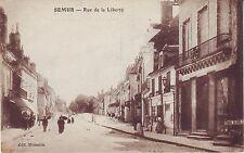 France Semur - Rue de la Liberte old unused sepia postcard