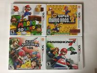 Mario Kart 7 + 3D Land + Smash Bros+ Mario Bros 2 Lot Nintendo 3DS Tested CIB