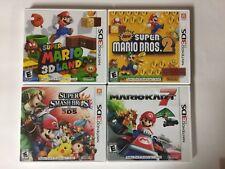 Mario Kart 7 + 3D Land + Smash Bros+ Mario Bros 2 Lot Nintendo 3DS Tested CIB