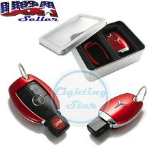 Mercedes Keyless Remote FOB Shell Holder Case Fit C E S M Class - Rose Red