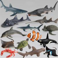 Ocean Sealife Animals Whale Turtle Shark Model Kids Educational Gift Toy lx