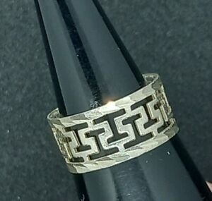 925 Ring with Open Greek *Eternity* Design Size L