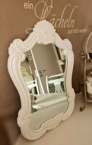 Wall Mirror Vanity Mirror Bathroom Mirror Fluspiegel White Shabby