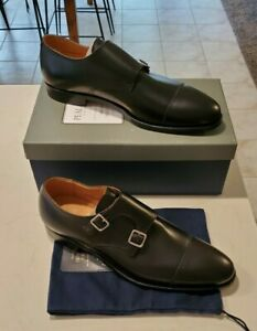 $698 Peal & Co Brooks Brothers Leather Double Monkstrap Shoes -- Made In England