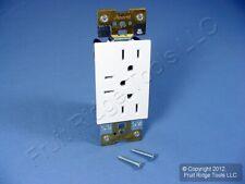 Leviton Acenti White TRIPLEX Receptacle Outlet 15 Amp