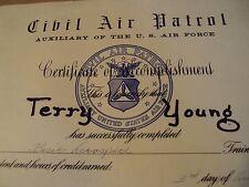 """RARE 1963 Vietnam War Era Certificate~""""CIVIL AIR PATROL""""~U.S. Air Force~"""