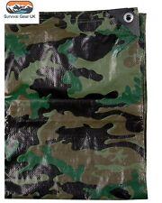 Militari Stile Cadetto Mimetico PE Telone 3x1.8 M Scout Paintball Prepper Esercito Campeggio