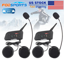 2x 1200m BT Bluetooth Interphone Motocycle Helmet Intercom Headset  DSP Speaker