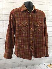 Van Heusen Men's Long Sleeve Board Shirt Plaid 85% Wool Vtg Large Rockabilly