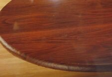 """NEW ELASTICIZED Wood Grain Vinyl Table Cover 45"""" - 56"""" Round Tablecloth"""