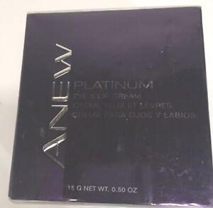 Avon New Sealed ANEW Platinum Eye & Lip Cream 0.50 Oz.