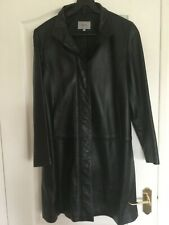 Marks And Spencer Leather Coat Ladies Size 14 Hardly Worn