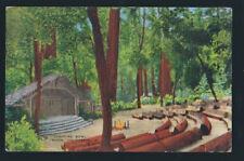 BIG BASIN CALIFORNIA CA 1962 Campfire Bowl Linen Vintage Postcard