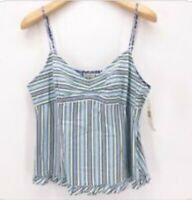Women's Tommy Hilfiger Blue Striped Spaghetti Strap Cami Tank Top Size 4 NWOT
