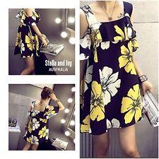 womens floral vintage boho shift dress size 8 au new
