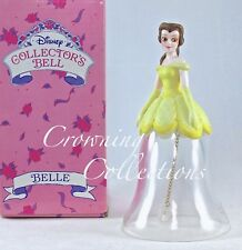 Disney Belle Crystal Bell Beauty and the Beast Figurine Lead Collector Porcelain