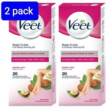 VEET Full Body Hair Removal Waxing Strips all in one 40 with Shea Butter