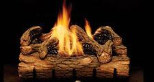 "Monessen Charred Hickory Vent Free 24"" Ceramic Fiber Natural Gas Log Set New"