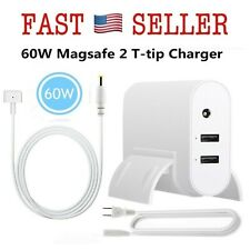 60W Power Charger Adapter Plus 2-Port USB (Mid2012 Late) Mag safe 2-Shape -FAST!
