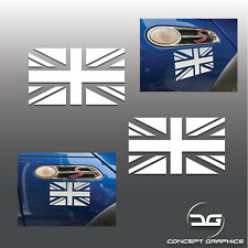 2x Mini Cooper S One JCW GP R53 R52 Union Flag Wing Car Vinyl Decal Stickers